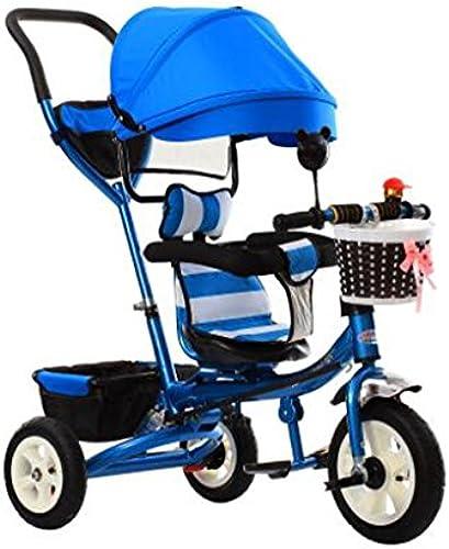 BZEI-BIKE Dreirad Kinderwagen fürrad Kind Spielzeug Trolley Aufblasbare Rad 3 R r, drehbare Sitz Faltbare    Kinderspielzeug