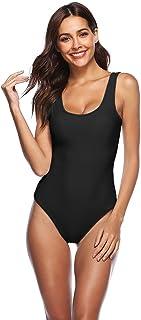 Mo&Ka Women's Fashion Printing One Piece Long Sleeve Zip UV Protection Print Surfing Swimsuit Swimwear Bathing Suits