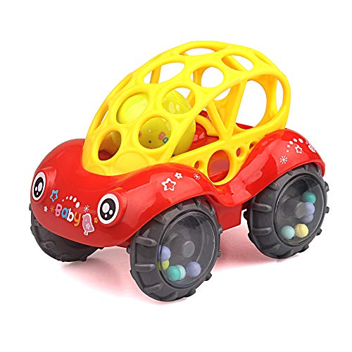 Read About ZHFUYS Rattle & Roll Car,3 to 24 Months Baby Toys 5 inch boy and GILR Infant Toys Vehic...