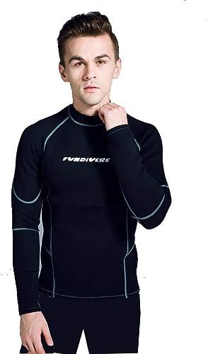 UNPIVERS Costume de plongée de Haute qualité pour Hommes avancé 2mm 3mm néoprène Haut élastique N Costume de plongée en Tissu Dos Fermeture à glissière Chaude Costume de plongée,XXXL
