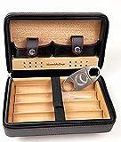 WANGXIAOYUE Caja de cigarros Cajas de cigarros de cigarros con un humidor con un humidificador y un Cortador de Acero Inoxidable, Caja de cigarros Caja de Tabaco