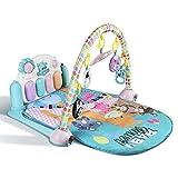 YISSVIC Tapis d'Éveil Bébé, Tapis de Jeux avec Arches pour Bébé de 0 à 36 Mois Contient 5 Jouets Suspendus