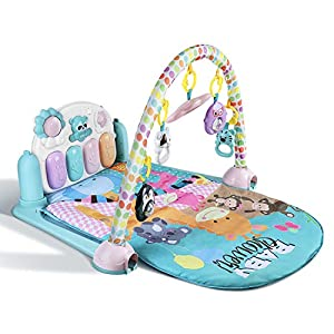 YISSVIC Gimnasio Piano Pataditas Manta de Juego para Bebé Gimnasio Musical Animalitos - Adecuado para bebés 0-36 Meses