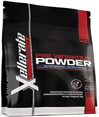 Pre Workout Powder Supplement 450g | 56 Servings Berry Blast with Creatine, Beta-Alanine, Taurine, L-Glutamine & Caffeine | Suitable for Vegetarians & Vegans | Pre Workout Supplement from Nu U Nutrition