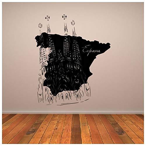 azutura Mapa de España Puntos de Referencia Resto del Mundo Vinilos Inicio decoración Art Pegatinas Disponible en 5 tamaños y 25 Colores Grande Blanco: Amazon.es: Hogar