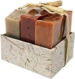 Guru-Shop Seifenset, Geschenkset - Tropical - 3 x Duftseife 100 g, Fair Trade, 8x8x7 cm, Seife