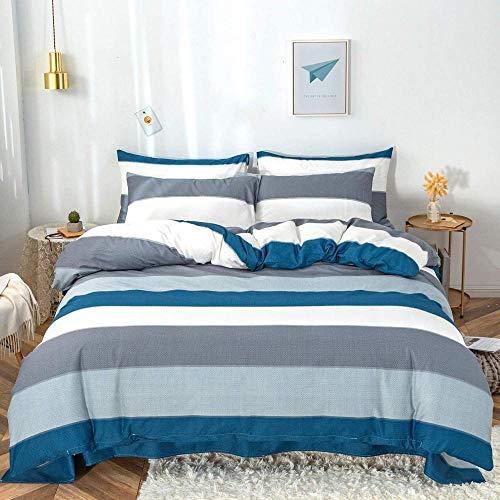 XQBHH Juego de cama de tres piezas, juego de funda de edredón de algodón