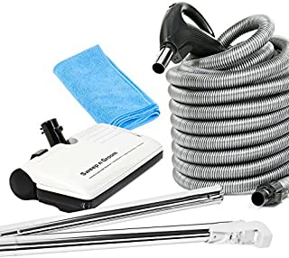 Ultra Clean 30' Hose Kit with Beam Central Vacuum Electric Powerhead Sweep N Groom Rugmaster