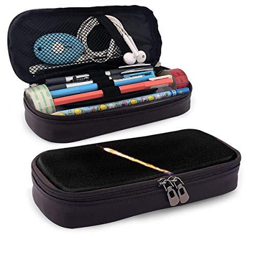 Rocket Liftoff Leather Pencil Case mit Stifthalter, Schreibwaren mit großer Kapazität, Kosmetiktasche, Bluetooth-Headset, School Sup