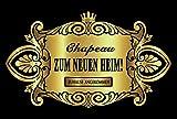 Oblique Unique® Aufkleber Flaschenetikett Chapeau Heim Etikett Gold elegant