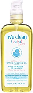 Live Clean Baby & Mommy Organic Safflower Oil Bath and Massage Oil 4.2 fl.oz