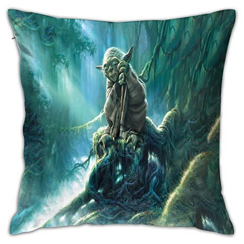 Gypsophila Fundas de almohada con impresión 3D, Star Wars 18, fundas de cojín cuadradas decorativas para sofá, decoración del hogar, 45 x 45 cm