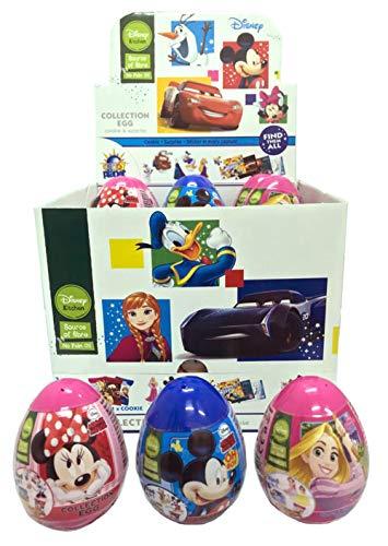 Ovetti Disney Kitchen Topolino, Minnie e Rapunzel. Collection Egg Cookie & Surprise. Ogni Ovetto contiene 1 Biscotto Cookie, una Sorpresa e Adesivi Disney. Ideali per Caramellate [18 Ovetti]