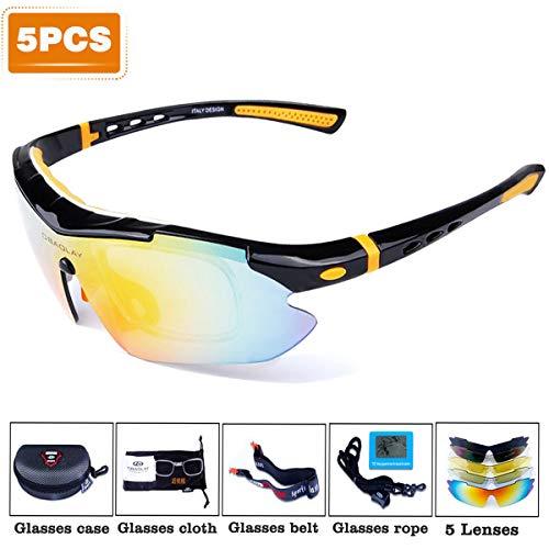 SPORT.ING Occhiali da Sole Polarizzati Ultraleggeri, Occhiali da Equitazione Sportivi Unisex per...