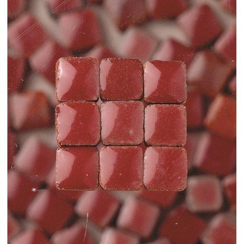MosaicMicros 5 x 5 x 3 mm, 10 g, Confezione da 100 Pezzi, in Ceramica Smaltata, tasselli di mosaici, Colore: Bordeaux