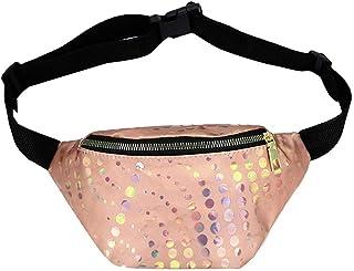 Wultia - Shoulder Bag Fashion Women Outdoor Zipper Sequin Laser Messenger Bag Chest Bag Waist Bag bolso Mujer Gold
