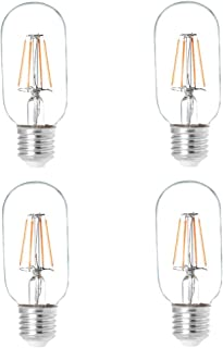 HERO-LED T14-DS-4W-WW27 Dimmable T14 E26/E27 4W Radio Style LED Vintage Antique Filament Bulb, 40W Equivalent, Warm White 2700K, 4-Pack