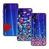 Young & Ming Cover per Xiaomi Redmi Note 7 / Xiaomi Redmi Note 7 PRO, [3 Pack] Morbido Trasparente Silicone Custodie Protettivo TPU Gel Case, Amore