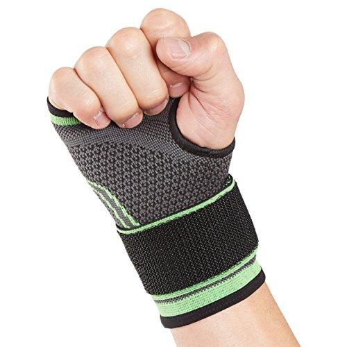 Actesso Bandage Handgelenk Sport Handbandage - für Sportliche Aktivitäten und Zerrungen (MittlerGröß (14.5-16.5), Grün)