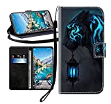 Sunrive Kompatibel mit HTC One M9 Plus Hülle,Magnetisch Schaltfläche Ledertasche Schutzhülle Etui Leder Hülle Handyhülle Tasche Schalen Lederhülle MEHRWEG(Schwarzer Tiger B1)