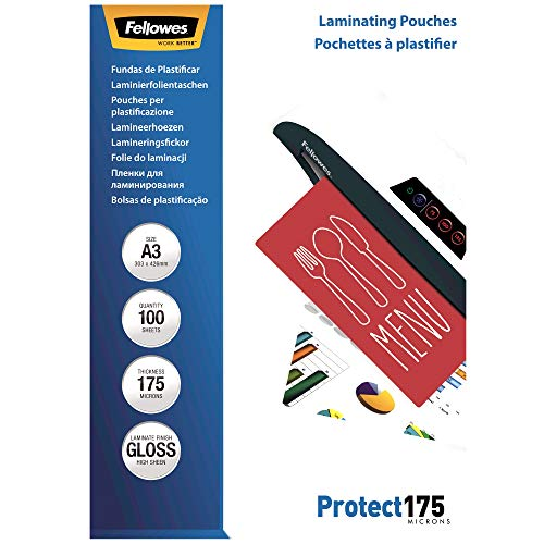 Fellowes 53087 lamineerfolie Protect 175 micron, DIN A4 (pak van 100) A3 / 175 Mikron