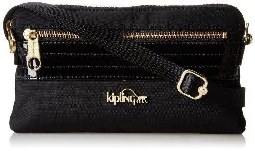 Kipling Iani, Black Patent Combo, One Size