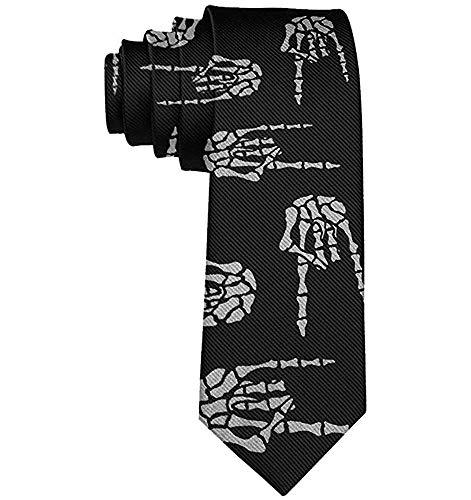 Regalos perfectos - Corbata para hombre Heavy Metal Skull Rock Rock Corbata de lujo clásica para fiesta de graduación de boda