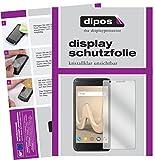 dipos I 2X Schutzfolie klar kompatibel mit Wiko Harry Folie Bildschirmschutzfolie