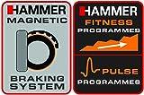 Hammer Heimtrainer Cardio T1, Weiß/schwarz, 4851 - 5