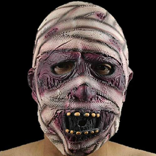 FWQAZ Halloween Party, Walking Dead Full Head Mask, Resident Evil Monster Masker Zombie Kostuum Party Rubber latex Masker voor Halloween mummie