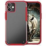 YATWIN Compatibile per Cover iPhone 12 Mini, Serie Antiurto con Airbag Protezione, Custodia iPhone 12 Mini con Paraurti Flessibile in TPU, Cover Caso per iPhone 12 Mini,5.4', Ross