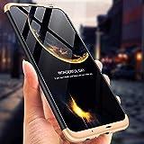 IMEIKONST Samsung C9 Pro Funda 3 in 1 Ultra Slim Design PC Hard Cubierta 360 Grados Protección Anti-Shock Anti-Scratch Caso Cover Carcasa para Samsung Galaxy C9 Pro. 3 in 1 Black + Golden AR