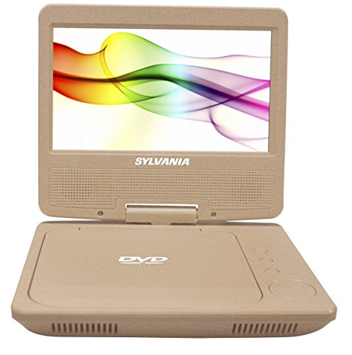 Sylvania SDVD7027-C-Gold 7' Portable DVD Player, Swivel Screen (Gold)