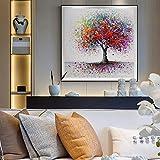 ganlanshu Pittura Senza Cornice Graffiti astratti su Tela Wall Art alberi colorati pittura di paesaggio su Tela per la decorazione domestica30X30cm