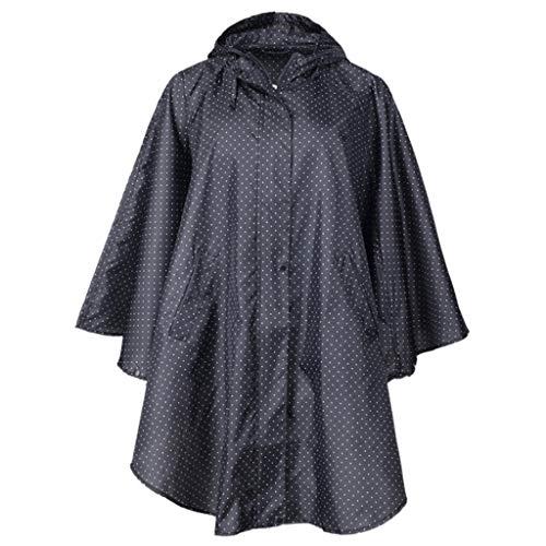 UUNDD poncho regenjas met capuchon voor volwassenen, lichte regenjas met capuchon, graven voor vrouwen en mannen