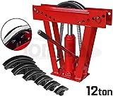 JOMAFA - Dobladora hidraulica de tubos 12 toneladas hasta 2' con 6 adaptadores. Curvadora de tubos