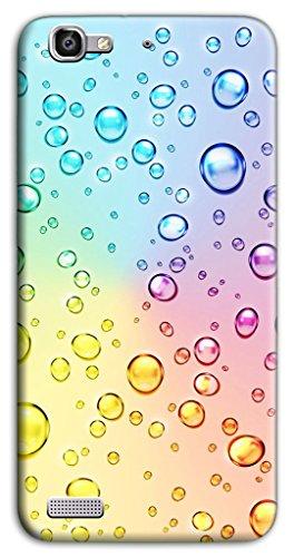 Mixroom - Cover Custodia Case in TPU Silicone Morbida per Huawei Ascend P8 Lite Smart Z420 Bollicine Multicolore