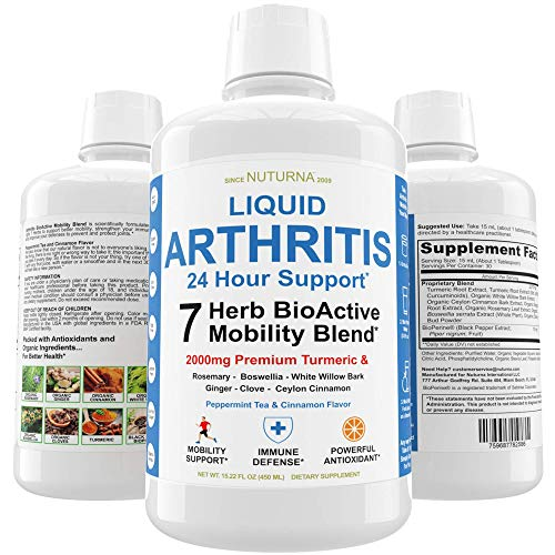 Arthritis Pain Relief Supplement Liquid, Joint Pain, Tenderness & Stiffness Support - Rheumatoid Arthritis BioActive Mobility Blend for Inflammation, Muscle Pain Relief, Back and Knee Supplement