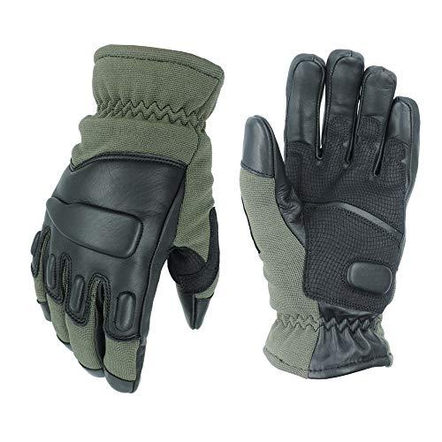 TacFirst Allrounder II Taktische Einsatzhandschuhe, Schnitthemmende Polizei, BW, SEK, Security Handschuhe (S, Tac Oliv)