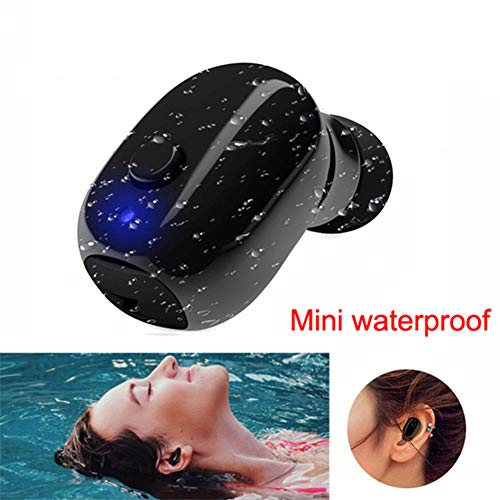 LiveGo Waterdichte IP68 Draadloze Oordopje, V4.2 Mini Bluetooth Oordopje, Auto Bluetooth Headset Onzichtbare Hoofdtelefoon met Mic, Speciaal voor Zwemmen Baddouche Rijden (slechts één oordop)