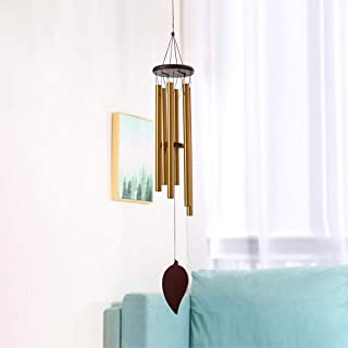 FTT Wind Chimes Outdoor - 30 Inch 6 Rustproof Aluminum Tubes Wooden Wind Bell Romantic Memorial Wind Chimes for Outside, B...
