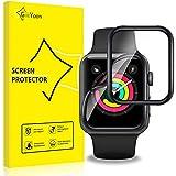 GiiYoon-4 Piezas Protector Pantalla para Apple Watch 42mm Series 3/2/1,[TPU-Film] [3D Cobertura Completa][Sin Burbujas] [Alta Definicion][Adsorcion anhidra] HD Suave Protector.