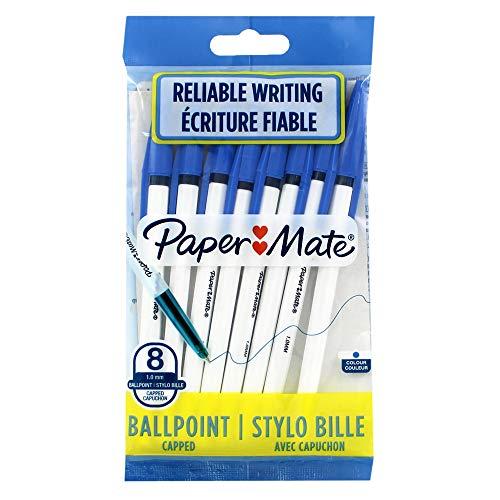 Papermate 045 Kugelschreiber, feine Spitze, Blau, 8 Stück