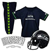 FOOTBALL COSTUME FOR KIDS: Kids love playing football and imagining that they're the star of their favorite team. Now they can let their imagination come to life with NFL-styled team uniforms SHOW YOUR TEAM SPIRIT: Whether you're looking for a Seahaw...