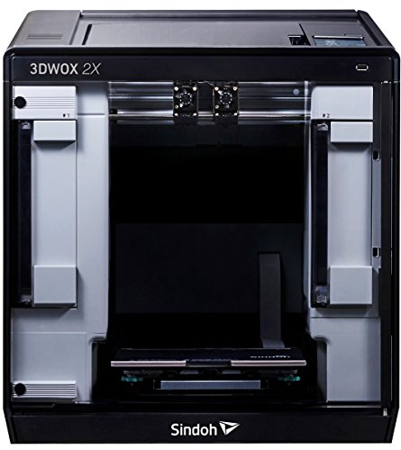 Sindoh - 3D2XQ 3DWOX 2X Dual Extruder 3D Printer With Connected Wi-Fi, HEPA filter, Flexible Metal Bed Plate (Heated)
