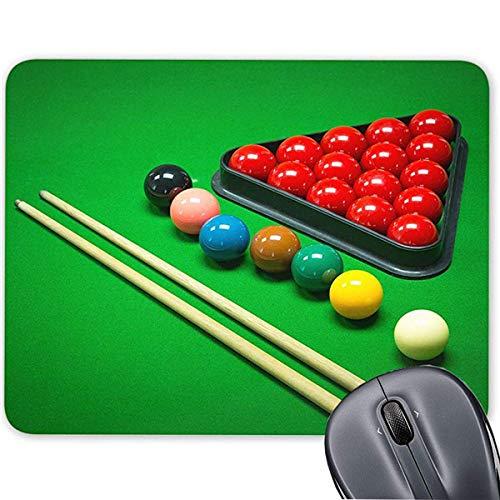 rutschfeste Gummi-Unterseite, Snooker-Spiel, Mauspad für Computer/Notebook/Mac 19,1 x 23,4 cm