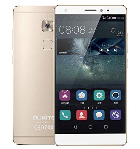 OUKITEL U13-5.5 pollici 4G Android 6.0 smartphone 3GB di RAM 64GB ROM MTK6753 octa core fotocamera 13 MP + 16MP impronta digitale dual SIM - ORO