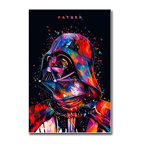 nr Darth Vader Star Wars Classic Film Leinwand Poster Drucken cm Wandkunst Dekorative Bild Tapete Wohnzimmer Decor-50x70 cm Kein Rahmen