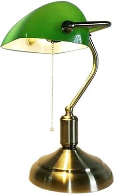 Lámpara de mesa de banco tradicional Lámpara de mesita de noche ...