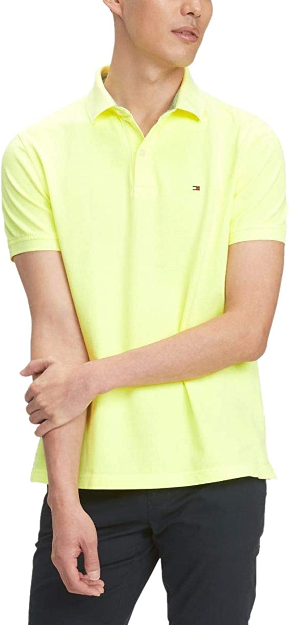 New product! New type Tommy Hilfiger New Free Shipping Men's Short Sleeve Fit Polo Shirt in Custom